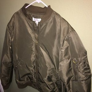 H&M Green Bomber Jacket